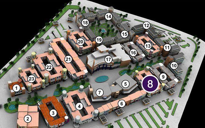 mapa shopping downtown